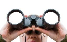 Vrouw het zoeken Stock Fotografie