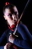 Vrouw in Japanse krijgs Royalty-vrije Stock Afbeelding