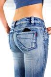 Vrouw in jeans Royalty-vrije Stock Afbeelding
