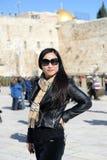 Vrouw in Jeruzalem Stock Foto