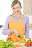 Vrouw in keuken Royalty-vrije Stock Afbeelding