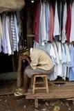 Vrouw in Kibera Kenia Stock Fotografie