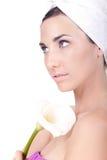 Vrouw klaar voor de kuuroordbehandeling Royalty-vrije Stock Afbeelding