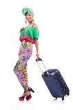 Vrouw klaar voor de zomervakantie Royalty-vrije Stock Foto's