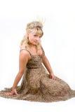 Vrouw in kleding Royalty-vrije Stock Foto's