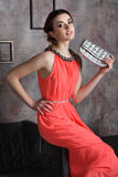 Vrouw in kleding Royalty-vrije Stock Afbeelding