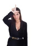 Vrouw l voor verliezer Royalty-vrije Stock Foto