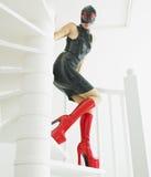 Vrouw in latex royalty-vrije stock foto's