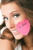 Vrouw in liefde Stock Afbeeldingen