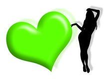 Vrouw in liefde Stock Foto's