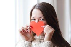 Vrouw in Liefde Stock Afbeelding