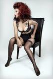 Vrouw in lingerie Royalty-vrije Stock Foto's