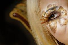 Vrouw in make-up stock afbeeldingen