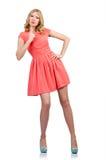 Vrouw in manierkleding Stock Foto's