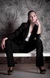 Vrouw in manierkleren Royalty-vrije Stock Foto