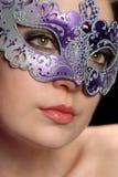 Vrouw in masker Royalty-vrije Stock Foto