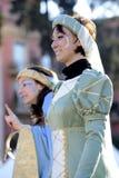 Vrouw in masker in Rome Carnaval Royalty-vrije Stock Afbeeldingen
