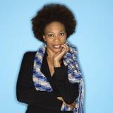 Vrouw met afro Stock Afbeeldingen