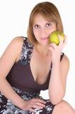Vrouw met appl Royalty-vrije Stock Afbeeldingen