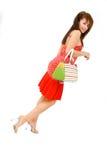 Vrouw met Beurs 2 stock afbeeldingen