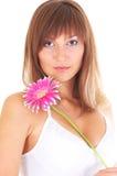 Vrouw met bloem Royalty-vrije Stock Fotografie