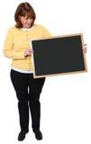 Vrouw met Bord Stock Fotografie