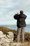 Vrouw met Camera Royalty-vrije Stock Afbeeldingen