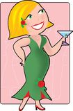 Vrouw met Cocktail Royalty-vrije Stock Foto