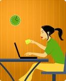 Vrouw met creditcard royalty-vrije illustratie