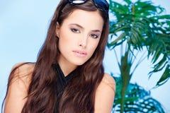 Vrouw met de zomer galsses Royalty-vrije Stock Foto