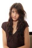 Vrouw met depressie Stock Afbeeldingen