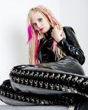Vrouw met dreadlocks Royalty-vrije Stock Fotografie