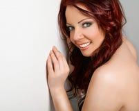 Vrouw met duidelijke samenstelling Stock Foto