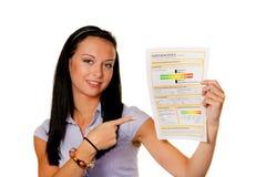 Vrouw met een energie (Oostenrijk) Stock Fotografie