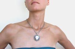 Vrouw met een halsband Royalty-vrije Stock Foto
