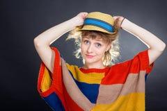 Vrouw met een hoed royalty-vrije stock foto