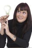 Vrouw met een idee Royalty-vrije Stock Foto
