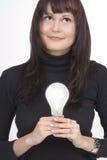 Vrouw met een idee Royalty-vrije Stock Afbeelding