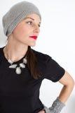 Vrouw met een Rode Lippenstift Stock Foto