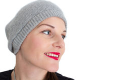 Vrouw met een Rode Lippenstift Stock Fotografie