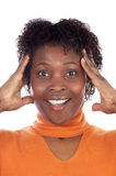 Vrouw met een uitdrukking Royalty-vrije Stock Foto