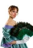 Vrouw met een ventilator Royalty-vrije Stock Foto