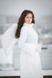 Vrouw met engelenvleugels Stock Foto's