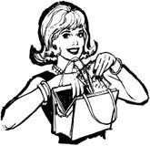 Vrouw met Extra Contant geld vector illustratie
