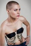Vrouw met extreem kapsel Royalty-vrije Stock Foto's