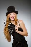 Vrouw met filmraad Stock Foto