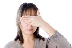 Vrouw met gesloten ogen stock foto's