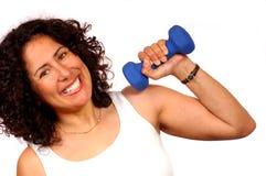 Vrouw met gewicht Royalty-vrije Stock Fotografie