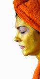 Vrouw met gezichtsmasker stock afbeelding