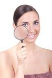 Vrouw met gezonde huid Royalty-vrije Stock Afbeelding